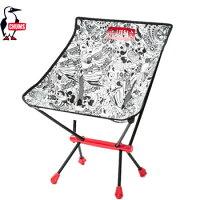 CHUMS フォールディングチェアブービーフットLove&Peace CH62-1170[チャムス Folding Chair Booby Foot  アウトドア キャンプ用品 椅子 チェア]の画像
