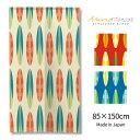 ハワイアン サーフボード のれん選べる3色 85×150cm 間仕切り おしゃれ デザイナーズのれん