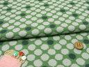 和風コットン生地・かすり水玉(緑) 10cm単位 切り売り【RCP】