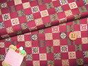 西陣織裂地・格子宝尽くし(えんじ)【RCP】