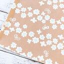 【10センチ単位】お花と蝶 生地 ペールピンク パステル 綿ツイル コットン100% 北欧風 商用利用可 入園 入学 準備 お弁当袋 ランチョンマット スモッグ レッスンバッグに