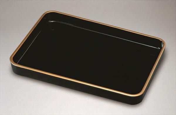 木製 賞状盆 天然漆塗り お盆 黒塗り 金縁付 18.0 尺8寸 紀州漆器 おぼん