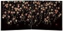 会津漆器 屏風 衝立 さくら 小 黒 びょうぶ 木繊 会津塗り【ギフト・内祝い・成人内祝い・結婚内祝い・新築祝い・お返し】