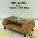 センターテーブル アジアン家具 テーブル ウォーターヒヤシンス ローテーブル グレイスノート 石彫り 【送料無料】ストーンカービング 彫刻 モダン