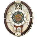 セイコークロック SEIKO 掛け時計 からくり時計 電波時計 RE571B セイコー掛け時計 セイコーからくり時計 セイコー電波時計 メロディ 音量調節 スワロフスキー おしゃれ【あす楽対応】【送料無料】