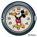 セイコークロック SEIKO ディズニー 掛け時計 壁掛け FS504L セイコー掛け時計 壁掛け 大人ディズニー ミッキー ミッキー&フレンズ キャラクター レトロスタイル ネイビー おしゃれ かわいい【あす楽対応】 【Disneyzone】【送料無料】