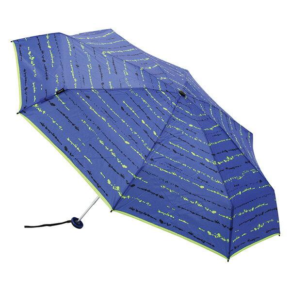 【ご希望の方にドライバッグプレゼント】【専用ケース付】 Knirps クニルプス X1 エックスワン メンズ レディース 折りたたみ傘 丈夫 KNXL811-681-6 日傘 コンパクト 軽量 晴雨兼用 Paint Stripes Neon Blue 折り畳み傘【正規品】【送料無料】 涼しい