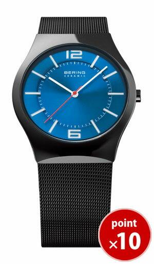 【先着でシューフレッシャープレゼント】 ベーリング BERING メンズ 腕時計 ウルトラスリムセラミック メッシュベルト 32039-447|腕時計 ベーリング 腕時計 腕時計 時計 正規品 送料無料【あす楽対応】