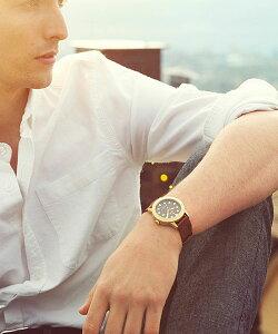 トリワTRIWAメンズ・レディース兼用腕時計HVALENHVST104-PC010213カレンダーゴールドレザーベルト【正規品】【送料無料】【楽ギフ_包装】