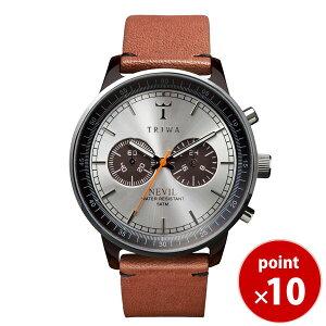 トリワTRIWAメンズ・レディース兼用腕時計クロノグラフNEVILHavanaBrownNEAC102-Bシルバー×ブラウンレザーベルト【あす楽対応】【正規品】【送料無料】