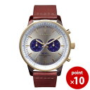 トリワ TRIWA メンズ・レディース兼用 腕時計 クロノグラフ NEVIL Blue Face NEAC109 シルバー×ブルー×ブラウン レザーベルト【あす楽対応】【正規品】【送料無料】|おしゃれ ギフト プレゼント ブランド 革ベルト