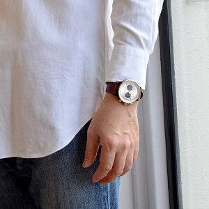 トリワTRIWAメンズ・レディース兼用腕時計クロノグラフNEVILBlueFaceNEAC109シルバー×ブルー×ブラウンレザーベルト【あす楽対応】【正規品】【送料無料】