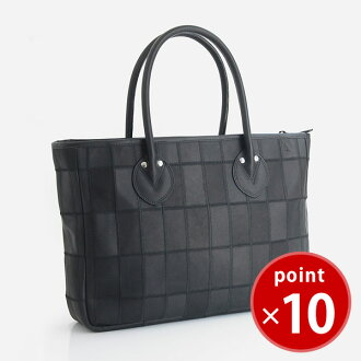 Try on TRION P260 men Lady's combined use A4 real leather side type tote bag black for size