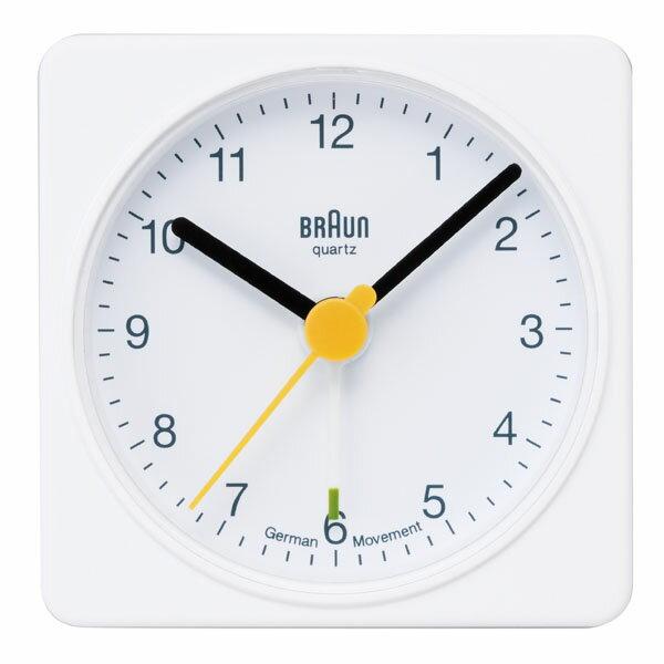 ブラウン BRAUN 目覚まし時計 置き時計 BNC002WHWH アラーム 角型ホワイト 【正規品】