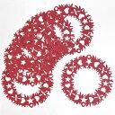 ☆ 【メール便対応商品 10点まで】 ドイツ製 切り絵のクリスマスオーナメント クリングミュラー 【リース】 クリスマスリース レッド 6枚セット 【正規品】