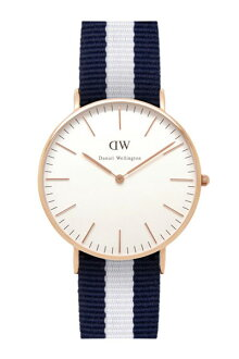 Daniel Wellington Daniel Wellington classical music 36mm Rose gold X Glasgow NATO strap nylon belt unisex men Lady's 0503DW fs04gm