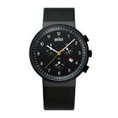 ブラウン BRAUN メンズ 腕時計 BNH0035BKBKG クロノグラフ カレンダー ブラックフェイス レザーベルト 【正規品】【送料無料】