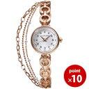 【ベルト調整が自分でできる!】ジルスチュアート JILLSTUART TIME 時計 腕時計 お得なダブルチェーン ウォッチ ピンクゴールド SILDR004 ...