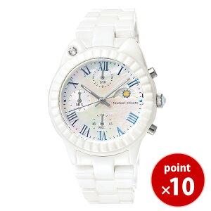 ツモリチサトtsumorichisatoレディース腕時計うでどけいウォッチホワイトキャット!whitecat!シロクマセラミックホワイトセラミックセラミックベルトクロノグラフNTAR001【正規品】【送料無料】