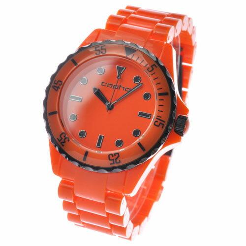 コプハ copha メンズ レディス 腕時計 SW-2170 【スワッガー SWAGGER】 ブラックIPベゼル オレンジ 【正規品】【送料無料】