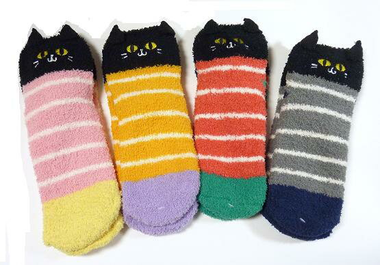 Black Cat ladies socks モールクルー!