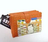 Manhattaner's マンハッタナーズ 2つ折り財布 「グルメ猫」 【楽ギフ包装】 「猫雑貨」「ネコグッズ」