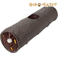 PuChiko シャカシャカロングトンネル ドット カーキ/ブラウン(1コ入)【PuChiko】