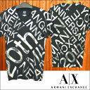 A X Armani Exchange アルマーニエクスチェンジ メンズ 半袖 Vネック Tシャツ ブラック 20th アメカジ イタカジ セレカジ インポート カジュアル スタイル ファッション 032