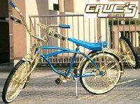 クルーズ ローライダー自転車 オールゴールド カスタム2 ローチャリ ビーチクルーザー 20インチ 小径 自転車 改造 世田谷ベース エレクトラ レインボー コンプトン カスタム アメリカン チョッパー BMX MTB 小径自転車 ミニベロ 小径車の画像