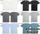 【セール】 アメリカンアパレル メンズ Tシャツ 6色 American Apparel メンズ レディース 半袖 トップス シャツ ホワイト ブラック グレー ブルー インポート ファッション ブランド ストリート サーフ カジュアル アメカジ ヴィンテージ スタイル 正規 商品