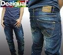 デシグアル Desigual メンズ デニム スリム パンツ ヴィンテージ ジーンズ 27D1801 ダメージデニム スペイン セレカジ ヨーロピアン ファッション インポート ブランド アメカジ セレブ カジュアル スタイル 正規