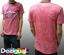 デシグアル Desigual メンズ Tシャツ ウォッシュ ピンク 半袖 シャツ 31T1438 スペイン セレブ セレカジ ヨーロピアン ファッション インポート ブランド アメカジ セレブ カジュアル スタイル 正規