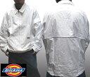 【アウトレット セール】 ディッキーズ メンズ ナイロンジャケット ホワイト ウインドブレーカー ジャケット ジャンバー アウター DICKIES アメカジ ストリート ブランド HIPHOP ウェアー B系 服 ウェア アメカジ ヒップホップ ファッション カジュアル 西海岸 スタイル