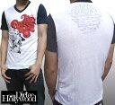 【セール】 ダーティーハリウッド メンズ Tシャツ Vネック Dirtee Hollywood FIRE ブラック LA セレブ Safar...