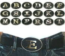 【訳あり アウトレット】 アルファベット ベルトバックル ブラック ベルト幅 40mmまで 交換用 ベルト バックル メンズ レディーズ ユ...