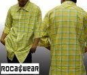 【セール】 ロカウェア メンズ チェックシャツ イエロー ボタンシャツ ROCAWEAR ストリート ブランド HIPHOP ウェアー B系 服 ダンス ヒップホップ ファッション カジュアル ウェア 大きいサイズ オーバーサイズ スタイル