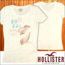 HOLLISTER ホリスター レディース 半袖 Tシャツ SO CAL オフホワイト tシャツ アメカジ サーフ ブランド ファッション インポート カジュアル ヴィンテージ スタイル 正規 商品 33