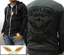 ロビンズジーン メンズ 長袖 ジップ フェルトパッチ パーカー LA ブラック フーディー safari サファリ LEON レオン オーシャンズ 掲載 ジーンズ ブランド ロビンズジーンズ セレブ ファッション ロビンジーンズ ストリート カジュアル
