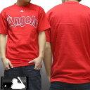 ロサンゼルス エンゼルス メンズ Tシャツ レッド メジャーリーグ MLB LA Angels majestic athletic インポート カジュアル ストリート ウェアー ヒップホップ ファッション HIPHOP B系 スタイル ウエストコースト 西海岸 服 ダンス ウェア アメカジ ブランド セール