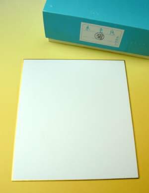 色紙 画仙「菊」 サイズ: 大色紙270×240mm