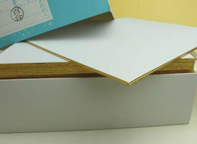 色紙 奉書「百合」 サイズ: 大色紙270×240mm