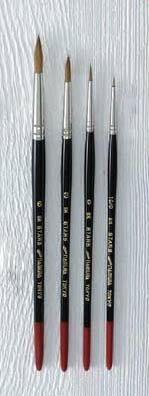 【お取り寄せ】ナムラ水彩画筆 SKstars 丸筆 4号