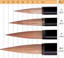 楽天中善画廊【お取り寄せ】ナムラ 日本画筆・初級者におススメ円山(付立筆、習作用)黒軸サイズ:大(軸幅10.5mm)