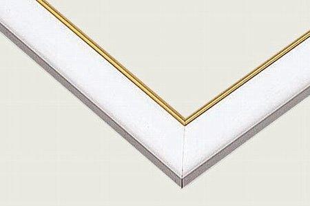 ジグソーパズル用 ゴールドモール木製パネル ホワイト 75×50cm MP103H 【ラッピング不可商品】