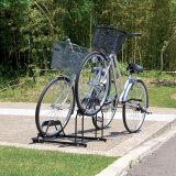 【】自転車スタンド 2台用 BYS-2 ブラック[自転車 置き場 サイクル ガレージ サイクルポート 自転車置き場 バイク置き場 自転車収納 バイク収納 玄関 サイクルガレージ ア