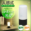 ガーデンセンサーライト ブラック ホワイト アイリスオーヤマ センサー