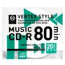 音楽用CD-R 20CDRA80VX.WPシーディー ディスク 録音 記録 20 vertex 【TC】