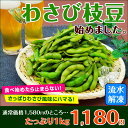 The summer when 1 kg of wasabi green soybean is hot is beer and a green soybean!