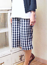 It is o-sho gaucho pants / double heart (impossibility) of the W gauze (in the case of two points of apparel products purchase)