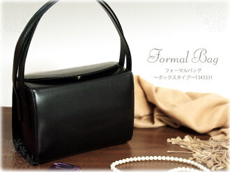 Formal Black Black cowhide leather formal bag-box type ( 1343331 ) / box 21 bag graduation ceremony entrance ceremony leather black leather bag ladies o-sho